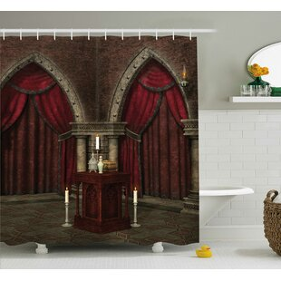 Gothic House Mysterious Dark Room Single Shower Curtain