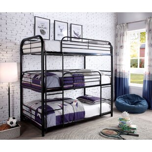 Overcash Twin over Twin over Twin Triple Bunk Bed