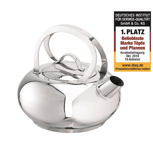 Ada 1.5L Stainless Steel Induction Safe Stovetop Kettle