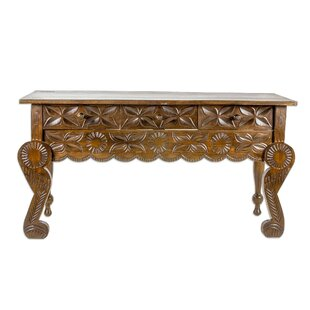 Alfret Floral Banquet Wood Console Table