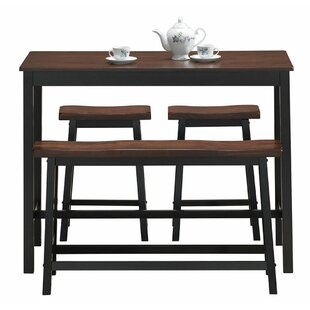 Castillo 4 Piece Breakfast Nook Dining Set Millwood Pines