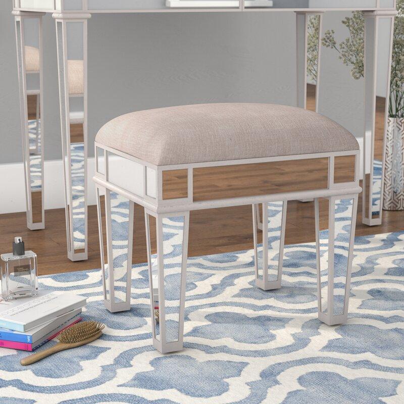 vanity chair or stool. Anya Mirrored Vanity Stool Stools You ll Love  Wayfair