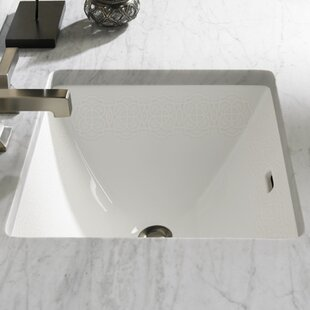 Waza Vitreous China Rectangular Undermount Bathroom Sink with Overflow