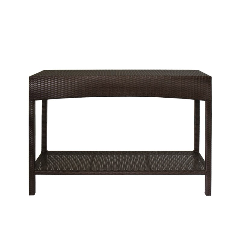 Levins Wicker Buffet Console Table