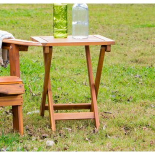 Joseline Folding Wooden Side Table