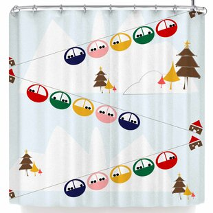 Bruxamagica Cable Skis Single Shower Curtain