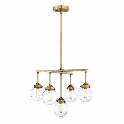 Suffield 5 light sputnik chandelier