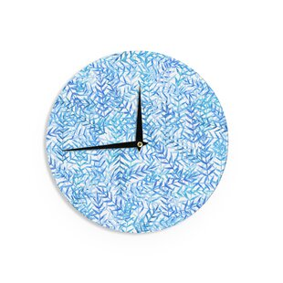Strawberringo 'Leaves' 12 Wall Clock by East Urban Home