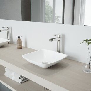 Purchase Hyacinth Stone Square Vessel Bathroom Sink with Faucet By VIGO