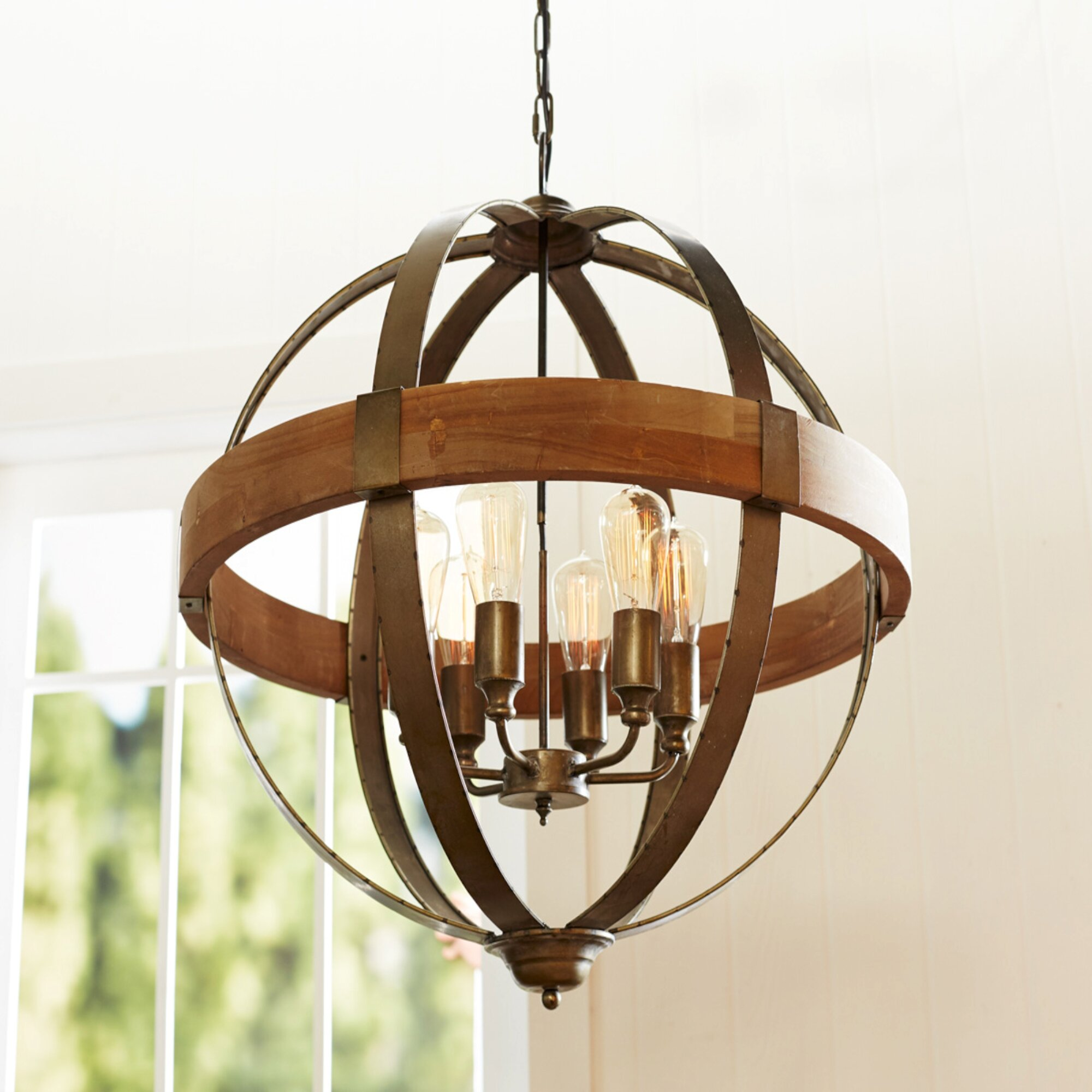 The Holiday Aisle Knute Orb 6 Light Globe Pendant Wayfair