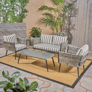 Liberatore 4 Piece Seating Group with Cushions