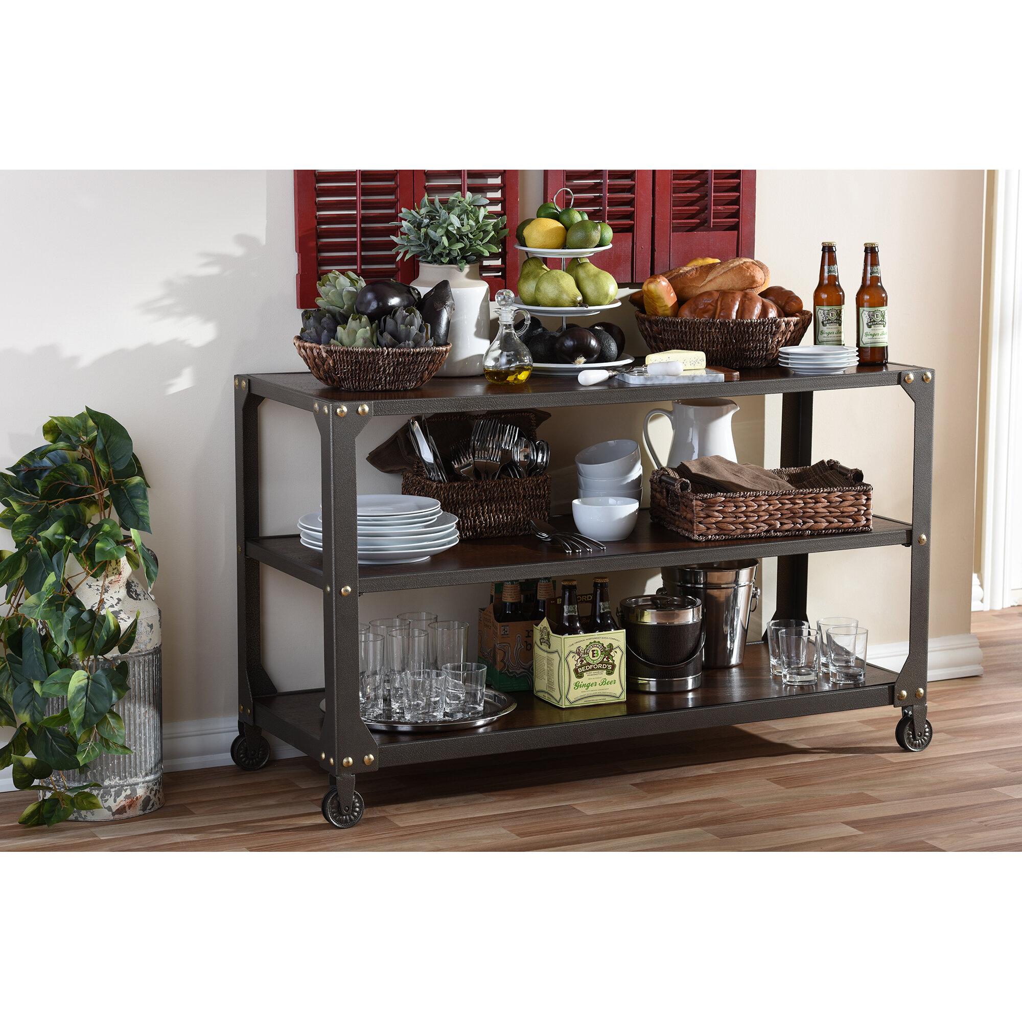 Rollins Industrial Loft Bronze Iron Console Table: Wholesale Interiors Baxton Studio Dreydon Console Table