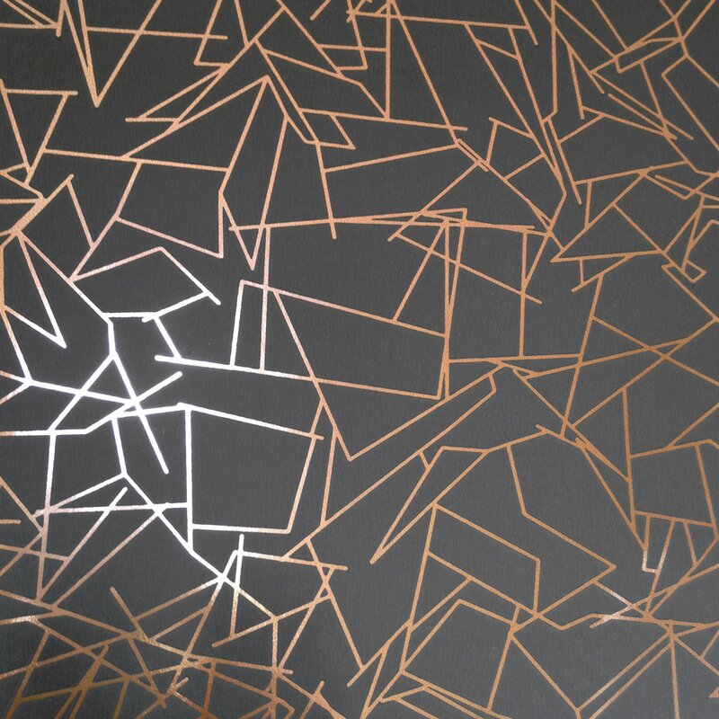 Angles 33 L X 20 5 W Geometric Wallpaper Roll
