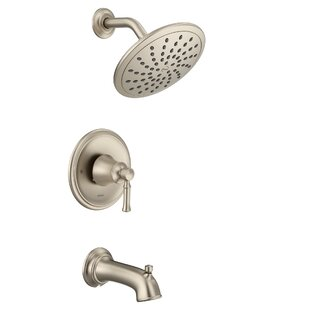 Price Check Dartmoor Pressure Balance Tub and Shower Faucet with Lever Handle ByMoen