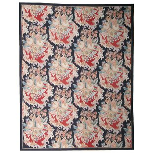 Price Check One-of-a-Kind Aubusson Hand Woven Wool Red/Black Area Rug By Pasargad