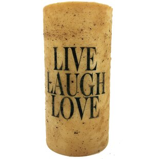 Live Laugh Love Unscented Pillar Candle