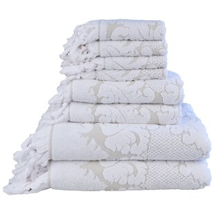 Nysa 6 Piece 100% Cotton Towel Set