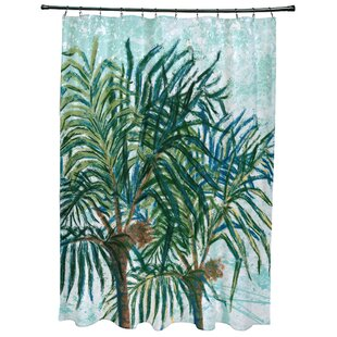 Kingbird Palms Floral Print Single Shower Curtain