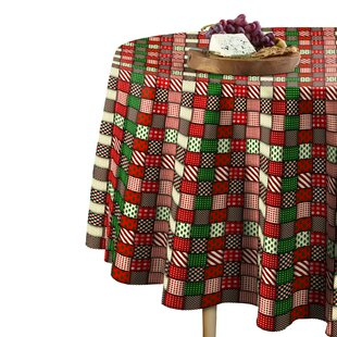 Martin Christmas Quilt Round Tablecloth