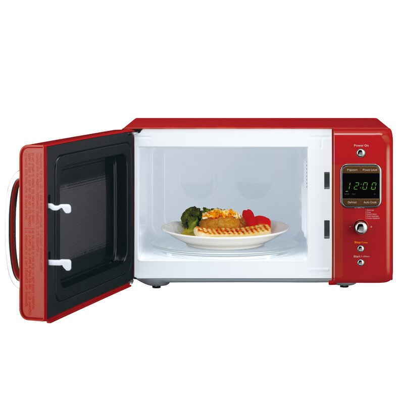 Daewoo Retro 17 6 0 7 Cu Ft Countertop Microwave