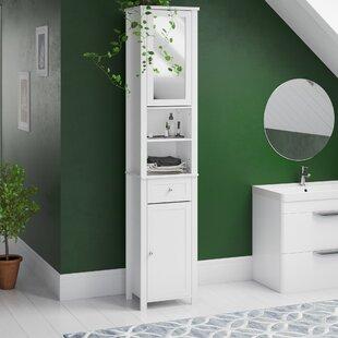Vida Milano 40 x 190cm Mirrored Free Standing Tall Bathroom Cabinet