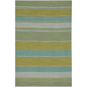 Tyre Lime Green Area Rug