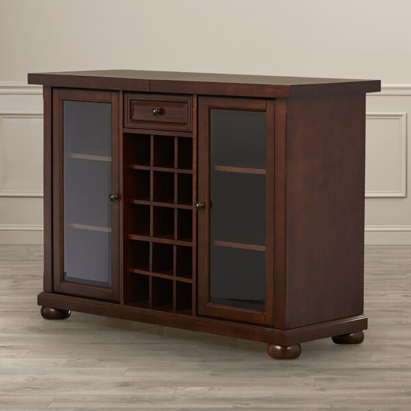 Darby Home Co Pottstown Bar Cabinet With Wine Storage U0026 Reviews | Wayfair