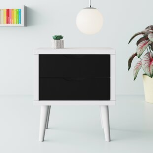 Roberta Modern 2 Drawer Nightstand by Hashtag Home