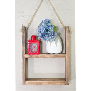 Brewer Rustic Wall Shelf