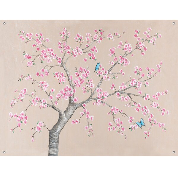Oopsy Daisy Cherry Blossoms And Butterflies By Colleen Phelon Hall Canvas Wall Decal Wayfair