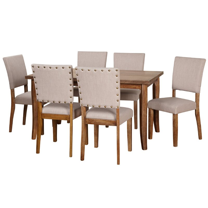 Lassiter 7 Piece Solid Wood Dining Set
