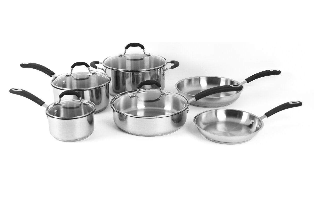 Oneida Prime 10-Piece Stainless Steel Cookware Set & Reviews | Wayfair