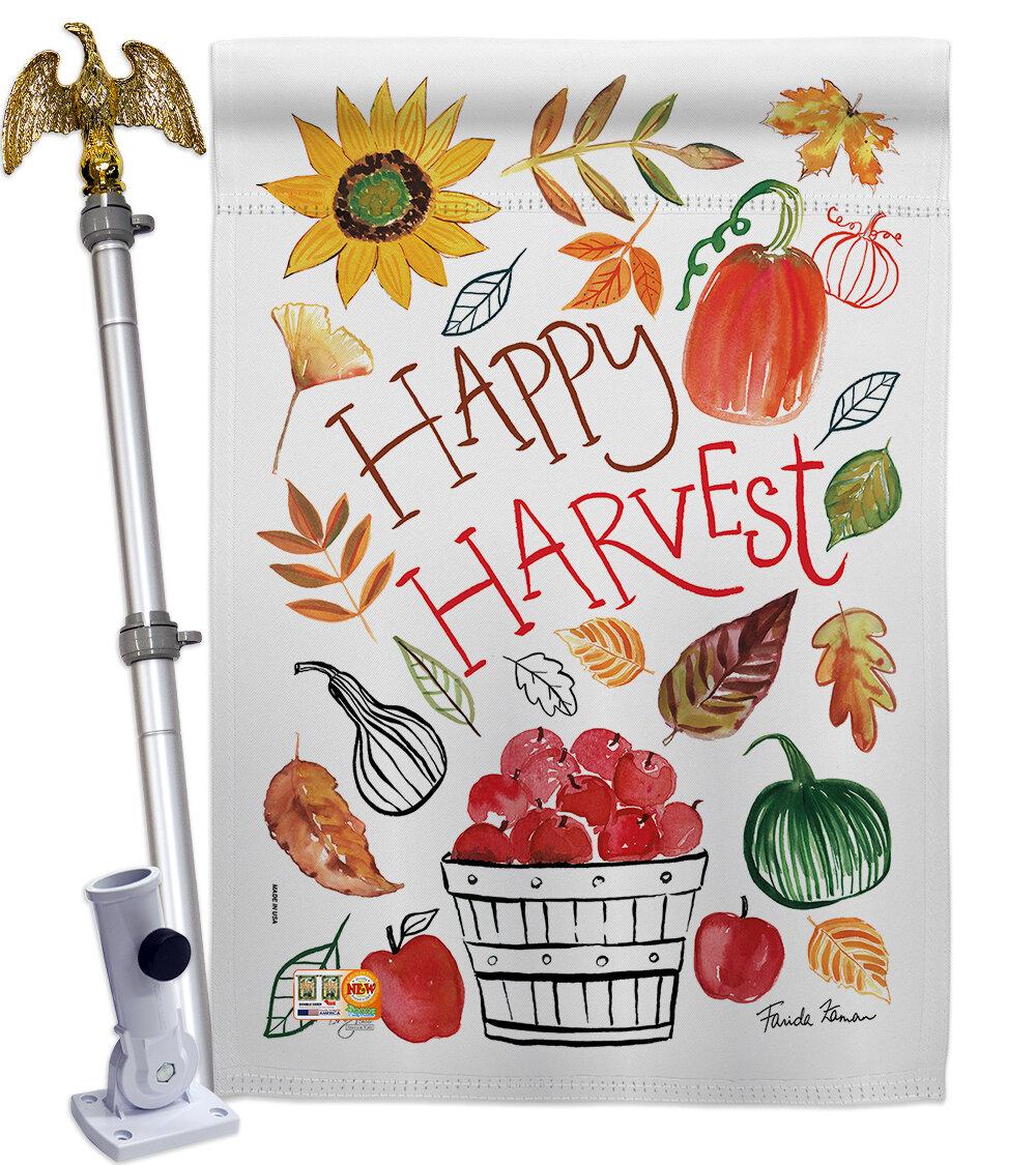Breeze Decor Happy Harvest 2 Sided Polyester 40 X 28 In Flag Set Wayfair