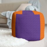 Clemson Stripes Cube Ottoman by East Urban Home