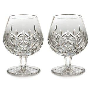 Lismore 12 oz. Crystal Snifter Glass (Set of 2)