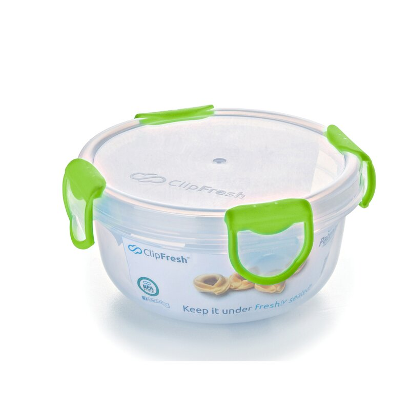 ClipFresh Round 16 Oz. Food Storage Container  Color: Green