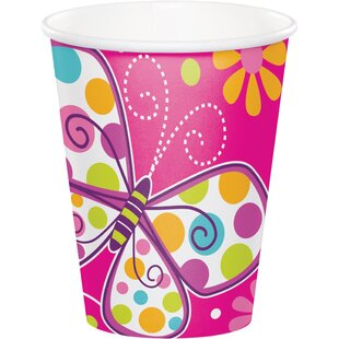 Butterfly Paper Disposable Cup (Set Of 24) by Creative Converting Wonderful