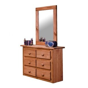 Check Prices Cipriano Mini 6 Drawer Double Dresser with Mirror ByHarriet Bee