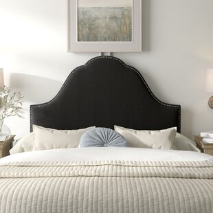 Arpeggio Nail Button Arch Upholstered Panel Headboard by Kelly Clarkson Home