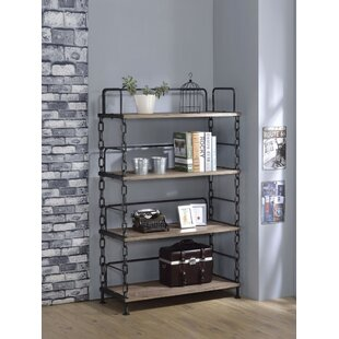 Lipscomb Industrial Looking Etagere Bookcase by 17 Stories Coupon