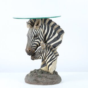 Deals Kristi Fashionable Zebra End Table by World Menagerie