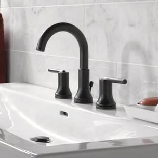 Trinsic® Bathroom Widespread Bathroom Faucet with Drain Assembly and Diamond Seal Technology By Delta