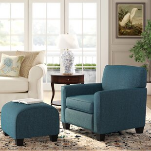 Armchair and Ottoman by Alcott Hill