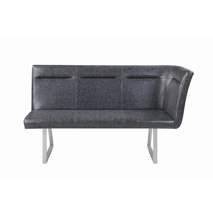 Swell Fernando Faux Leather Bench Caraccident5 Cool Chair Designs And Ideas Caraccident5Info