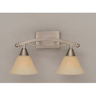 Check Prices Eisenhauer 2-Light Marble Glass Shade Vanity Light By Red Barrel Studio