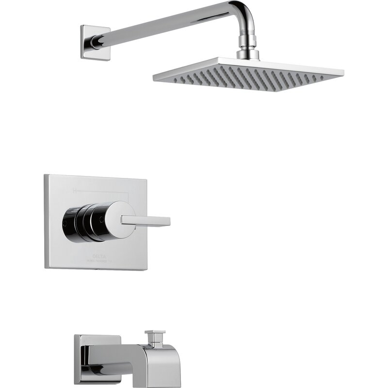 Vero Tub And Shower Faucet With Lever Handles And Monitor
