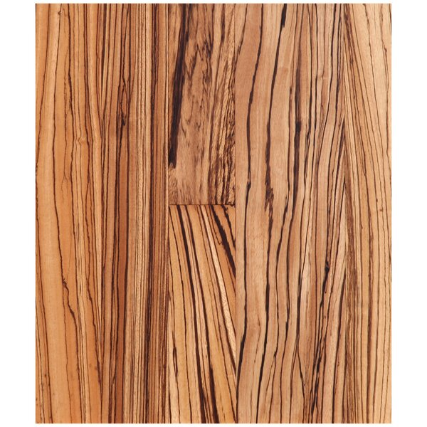 Easoon Usa 5 Engineered Zebrawood Hardwood Flooring In Natural