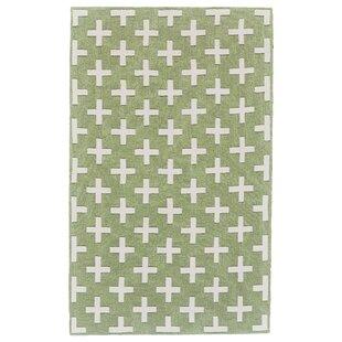 Find for Kobayashi Green/White Area Rug ByWinston Porter