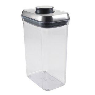 SteeL Rectangle Pop 80 Oz. Food Storage Container