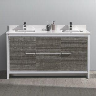 Great deal Trieste Allier Rio 60 Double Bathroom Vanity Set By Fresca